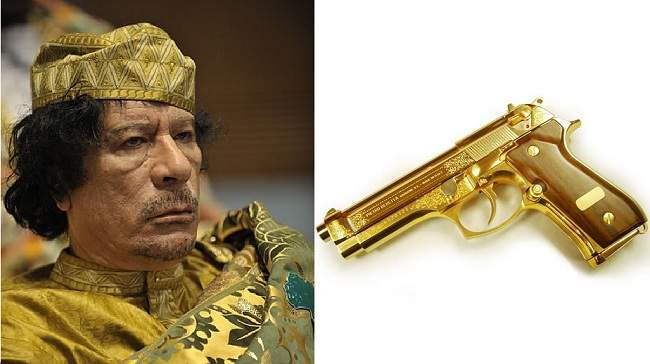 Gaddafi's gold pistol surfaces on eBay